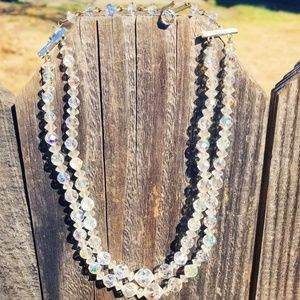 Vintage 50's AB Bead Choker Necklace